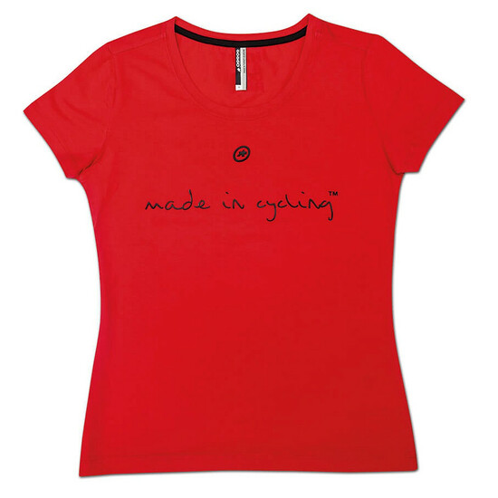 Assos T Shirt Made in Cycling SS Lady national red